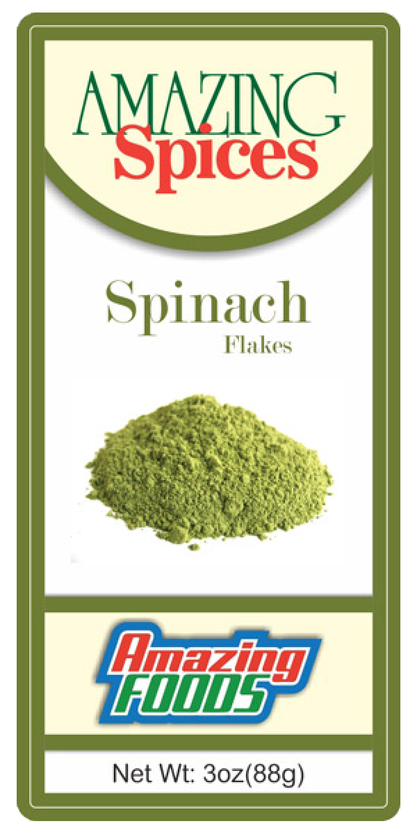 Spinach Flakes, 3oz(88.77g)