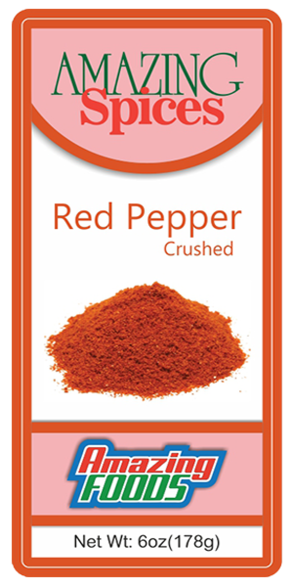 Red Pepper, Crushed     6oz(178g)